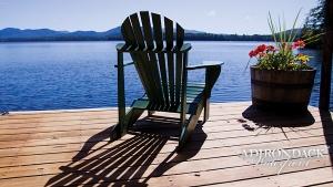 lake and chair